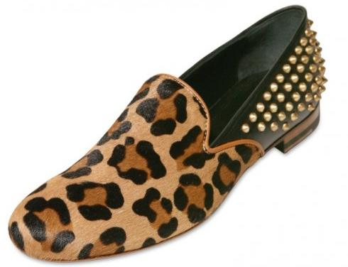 Giacomorelli, leopard print loafers, studded loafers, leopard studs,