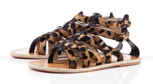Christian Louboutin, Louboutin, Leopard print, Men's gladiators, men's sandals, Leopard gladiators
