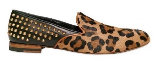 Giacomorelli, Leopard, Studded, Loafers