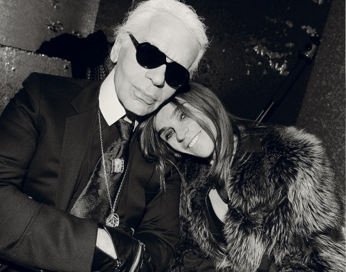 Karl Lagerfeld, Carine Roitfeld, Interview Magazine, Karl & Carine