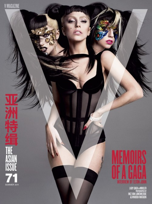 V Magazine, Summer 2011, Lady Gaga, Mugler, Inez and Vinoodh,