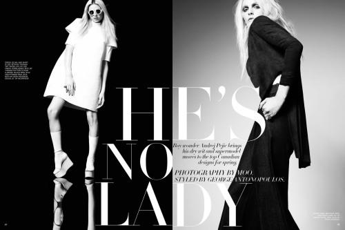 Andrej Pejic by Moo King for Fashion Canada February 2012 1