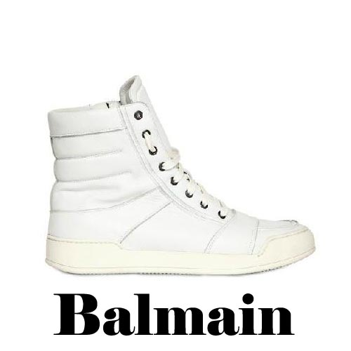 BALMAIN Zipped Calfskin High Top Sneakers, BALMAIN, Zipped, Calfskin, High Top, Sneakers