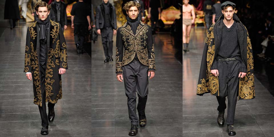 9aed12727481 Review: Dolce & Gabbana Fall Winter 2012 Menswear | fashjon