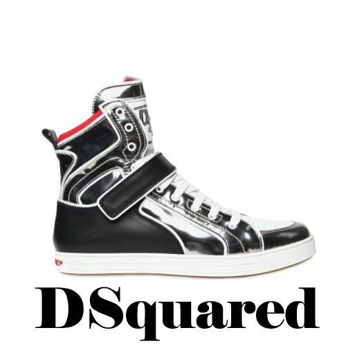 DSQUARED Mirrored High Top Calf Sneakers, DSQUARED, Mirrored, High Top, Calf, Sneakers