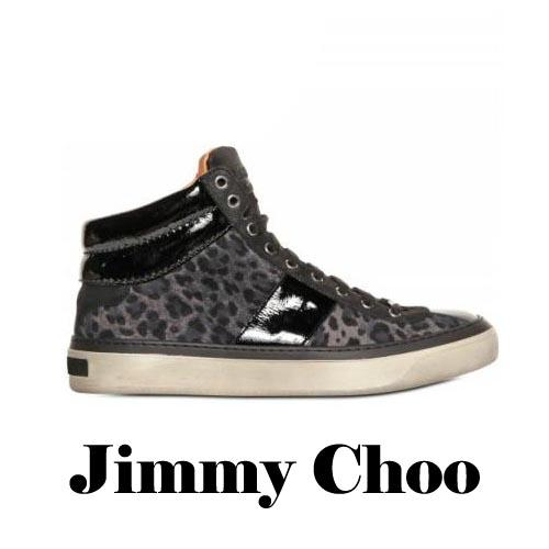 JIMMY CHOO Leopard Printed Suede Sneakers, JIMMY CHOO, Leopard, Printed, Suede, Sneakers, Leopard Print