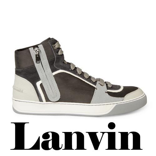 LANVIN Leather and Suede Panelled Sneakers, LANVIN Leather,Suede, Panelled, Sneakers