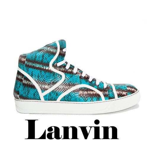 LANVIN  Water Serpent Tennis Sneakers, LANVIN,  Water Serpen,t Tennis, Sneakers, snakeskin