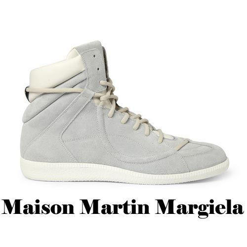 MAISON MARTIN MARGIELA Suede and Leather High Top Sneakers, MAISON MARTIN MARGIELA, Suede,Leather, High Top, Sneakers