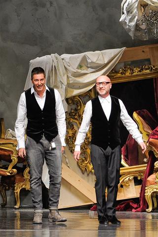 Stefano Gabbana and Domenico Dolce Dolce & Gabbana Fall Winter 2012 Menswear