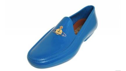 Vivienne Westwood, LOGO ORB RUBBER LOAFERS, Rubber Loafers, Blue Rubber Loafers