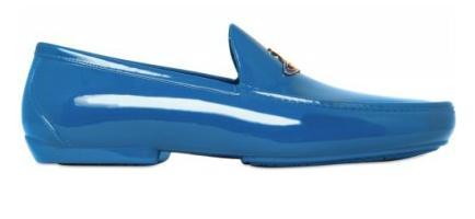Vivienne Westwood, LOGO ORB RUBBER LOAFERS, Rubber Loafers, Blue Rubber Loafers,