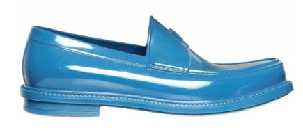 Yves Saint-Laurent Rubber Loafers, Yves Saint-Laurent, Rubber Loafers, Blue Rubber Loafers