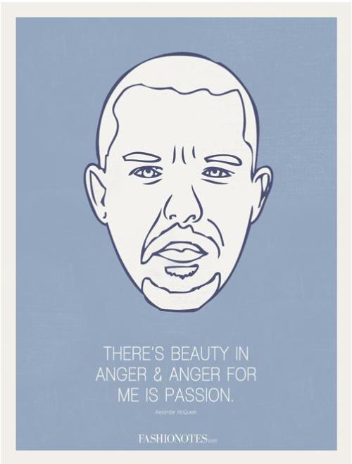 Fashionotes - Alexander McQueen Poster