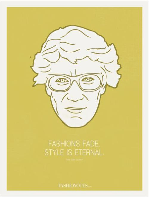 Fashionotes -  Yves Saint Laurent Poster