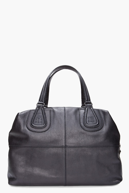 GIVENCHY Black Nightingale Boston Bag
