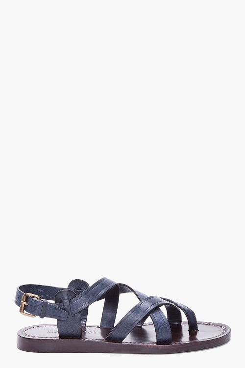 Lanvin Dark Blue Bride Sandals