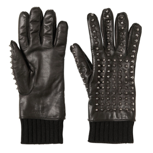 BURBERRY PRORSUM SPIKED LEATHER GLOVES
