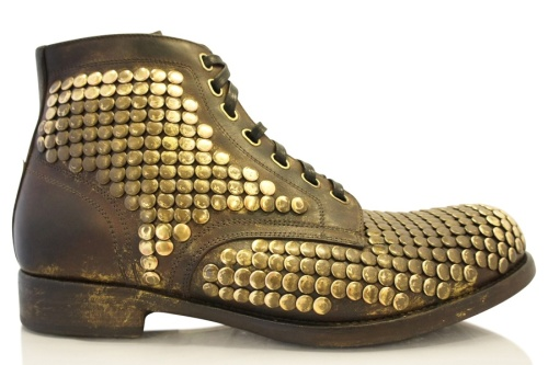 Dolce and Gabbana, Mens Studded Boots, Mens