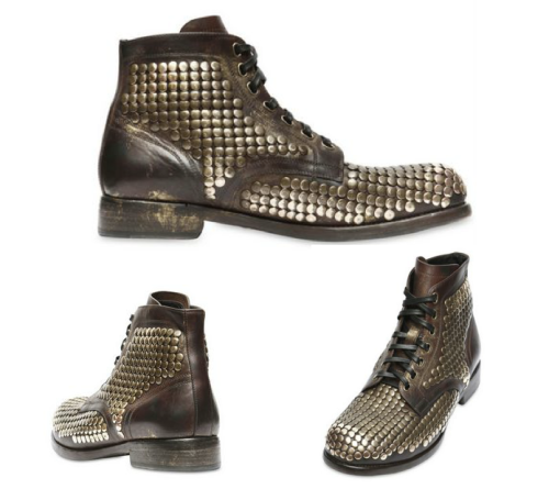 Dolce and Gabbana, Mens ,Studded Boots,