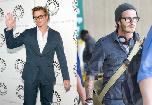 David Beckham, Simon Baker, Geek Chic, Glasses, Eyewear