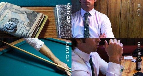 SnapLNX, Money clip, tie clip, sleeve clip, cufflinks
