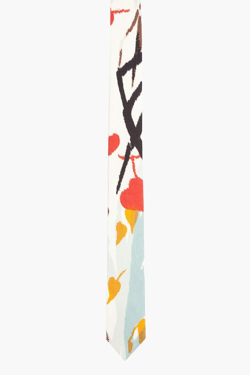 alexander mcqueen, ivory, multicolour, tie