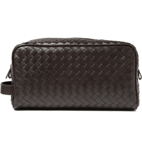 Bottega Veneta, leather, wash bag