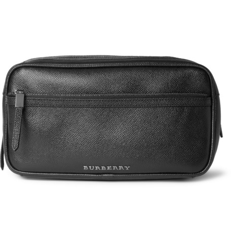 Burberry, leather, wash bag