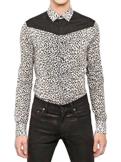 Saint Laurent, Paris, Leopard Print Shirt