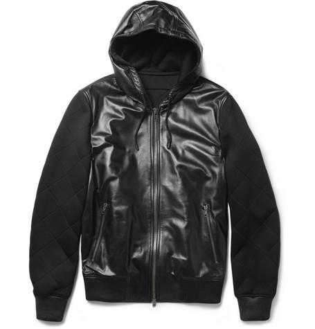 Givenchy, hooded leather jacket, Leather sleeve, jacket, menswear,