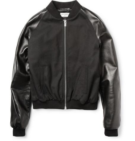Saint Laurent, Leather sleeve, jacket, menswear,