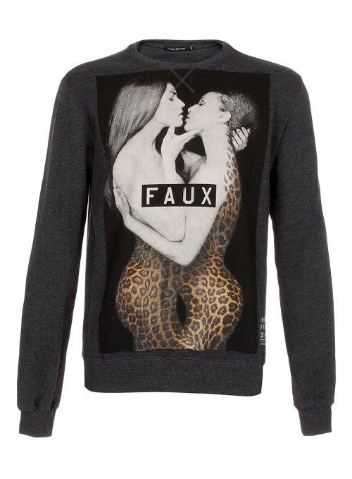 Topman, Sweater, menswear, leopard print